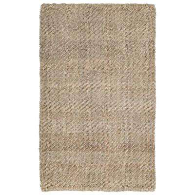Essential Twill Natural 1 ft. 6 in. x 2 ft. 5 in. Area Rug