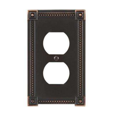 Traditional 1 Duplex Wall Plate - Aged Bronze