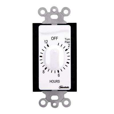 12 Hour In-Wall Countdown Timer - White