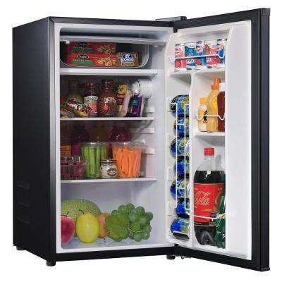 4.3 cu. ft. Mini Fridge Single Door Only in Stainless Steel Look