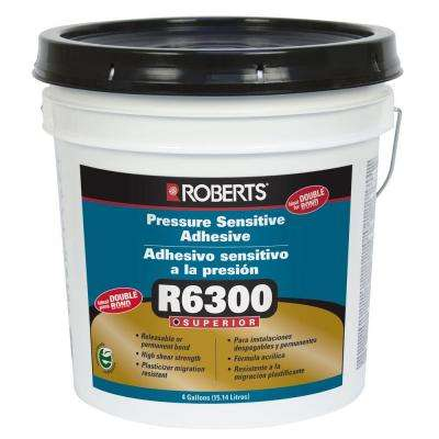 4-gal. Pressure Sensitive Adhesive for Carpet Tile and Luxury Vinyl Tiles