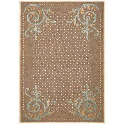 Scrollwork Brown 4 ft. x 5 ft. 7 in. Area Rug