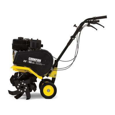 22 in. 212cc 4-Stroke Gas Dual Rotating Front Tine Tiller with Storable Transport Wheels