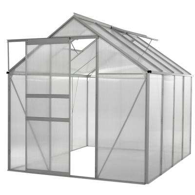 Walk-in 6 ft. x 8 ft. Lawn and Garden Greenhouse with Heavy Duty Aluminum Frame