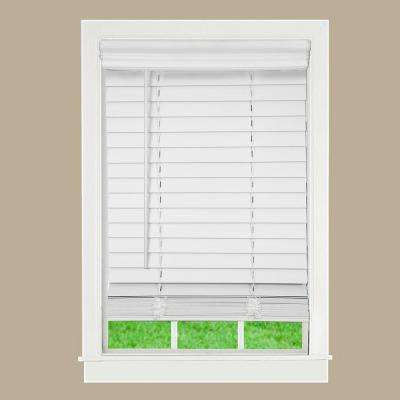Mounted Frame - Faux Wood Blinds - Blinds - The Home Depot