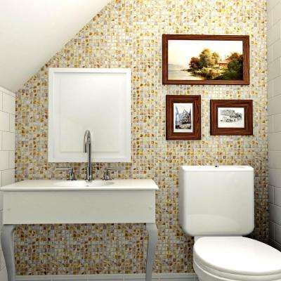 Conchella Square Natural 12 in. x 12 in. x 2 mm Natural Seashell Mosaic Tile