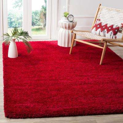 Milan Shag Red 8 ft. x 10 ft. Area Rug