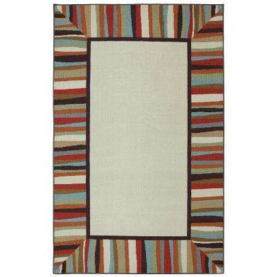 Patio Border 5 ft. x 8 ft. Printed Outdoor Patio Area Rug