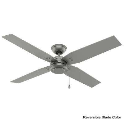 Commerce 54 in. Indoor/Outdoor Matte Silver Ceiling Fan