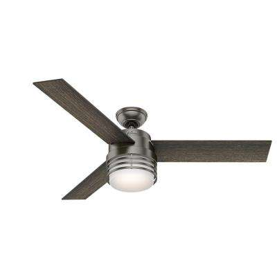 Mayford 54 in. LED Indoor Brushed Slate Ceiling Fan with Light Kit and Remote
