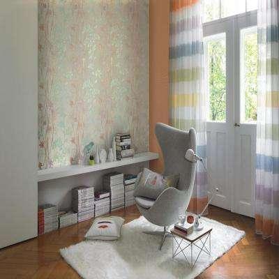 Multi Color Contemporary Vine Wallpaper