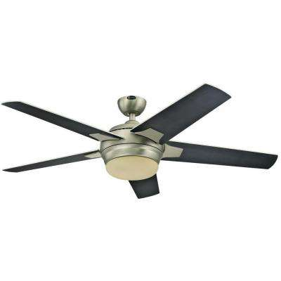 Bolton 52 in. Indoor Brushed Aluminum Ceiling Fan