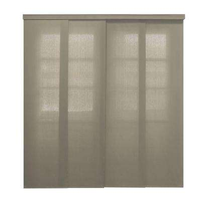 Deluxe Allure Cordless Taupe Sliding Panel, 96 in. L