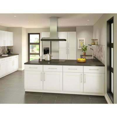 Princeton Shaker Assembled 36x12x24 in. Wall Deep Cabinet in Warm White