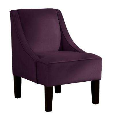 Palisade Aubergine Velvet Arm Chair