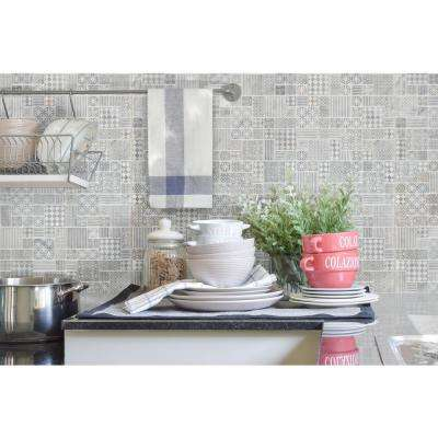 Tetris Blanco Pattern 11.81 in. x 11.81 in. x 10mm Honed Marble Mesh-Mounted Mosaic Tile (9.7 sq. ft. / case)