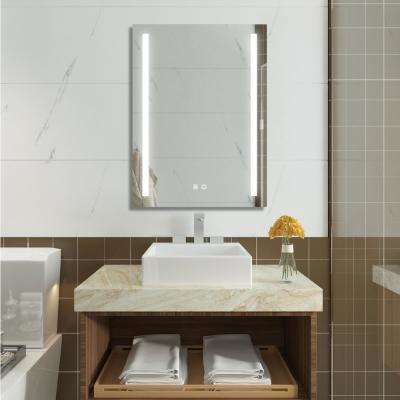 20 in. x 30 in. Mounted Wall Mirror in White