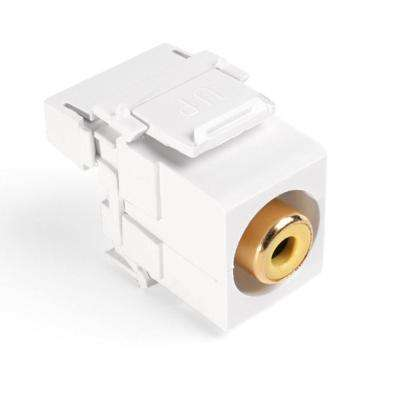 QuickPort RCA 110-Type Connector with Yellow Barrel, White