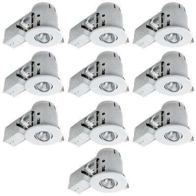 4 in. White Recessed Lighting Kit Combo (10-Pack)