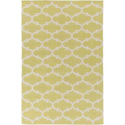 Vogue Lola Yellow 9 ft. x 12 ft. Indoor Area Rug