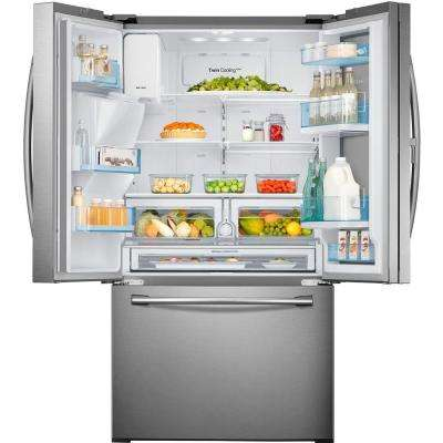 22.5 cu. ft. Food Showcase French Door Refrigerator in Stainless Steel, Counter Depth