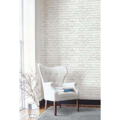 Vintage White Brick Peel and Stick Wallpaper