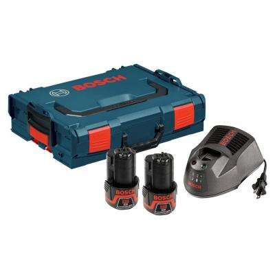 12-Volt Lithium-Ion Starter Kit with (2) 2.0 Ah Batteries, Charger, and L-BOXX Carrying Case (4-Piece)