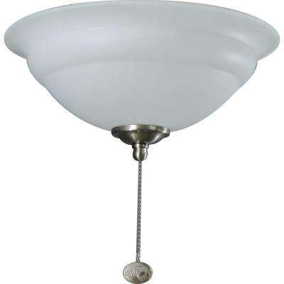 3-Light Universal Ceiling Fan Light Kit with Shatter Resistant Bowl