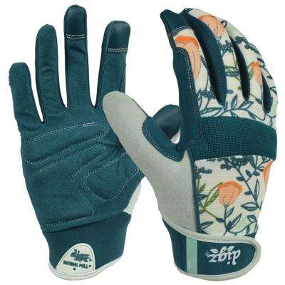 Women's Large Fabric Gardener Touchscreen Gloves