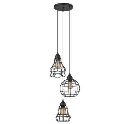 Jorah 3-Light Oil Rubbed Bronze Cage Cluster Pendant