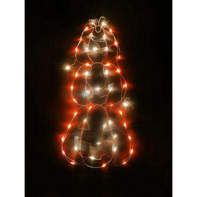 41 in. Stacked Pumpkins Decoration with 50 Miniature Lights
