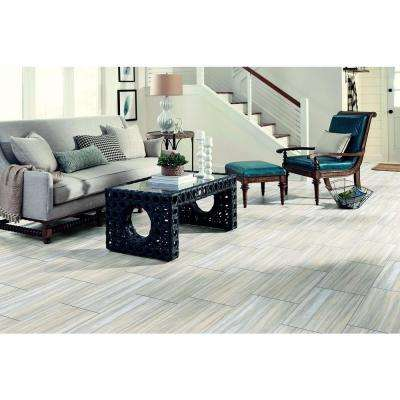 Gray Linear Travertine 12 in. x 24 in. Peel and Stick Vinyl Tile (20 sq. ft. / case)