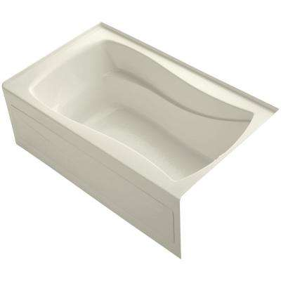 Mariposa 5 ft. Right Drain Soaking Tub in Biscuit with Bask Heated Surface