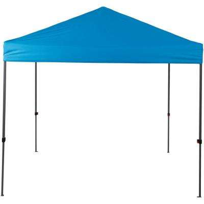 8 ft. x 8 ft. Blue Straight Leg Instant Canopy Pop Up Tent