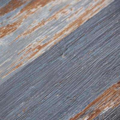 COLORS Floor and Wall DIY Old Blue Sea Aged 6 in. x 36 in. Painted Style Glue Down Luxury Vinyl Plank(30 sq. ft. / case)