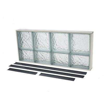 Glass Block Window Ice Pattern Solid NailUp2