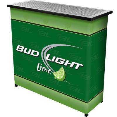 2-Shelf 39 in. L x 36 in. H Bud Light Lime Portable Bar Table with Case