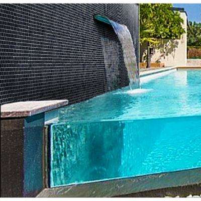 Landscape Swamp Black Linear Mosaic 1 in. x 1 in. Glossy Glass Wall Pool and Floor Tile (0.84 Sq. ft.)