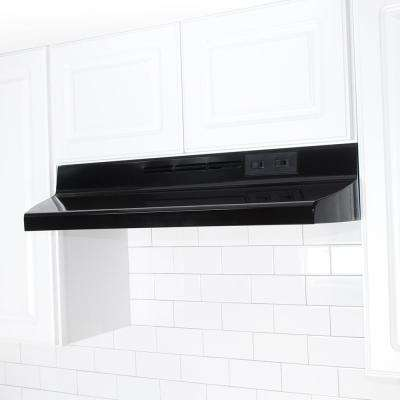 AD 30 in. Under Cabinet Ductless Range Hood with Light in Black