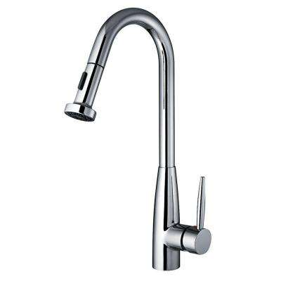 Jem Collection Single-Handle Pull-Down Sprayer Kitchen Faucet in Polished Chrome