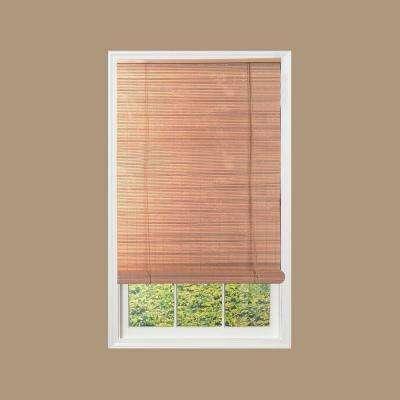 Tan Woodgrain Exterior Roll Up Patio Sun Shade
