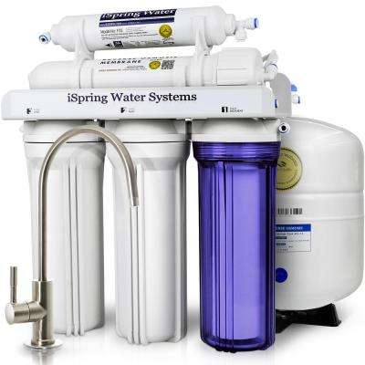 5-Stage Under-Sink Reverse Osmosis Water Filter with Brushed Nickel Faucet