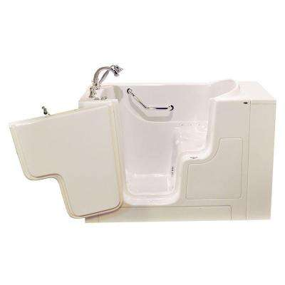 OOD Series 52 in. x 30 in. Walk-In Air Bath Tub with Left Outward Opening Door in Linen