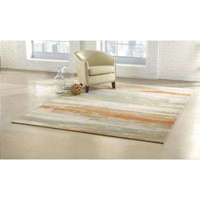 Water Color Multi 9 ft. x 12 ft. Area Rug