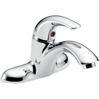 Commercial 4 in. Single-Handle Low Arc Bathroom Faucet in Chrome