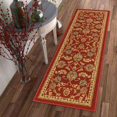 Kings Court Tabriz Red 2 ft. x 7 ft. Traditional Oriental Runner Rug