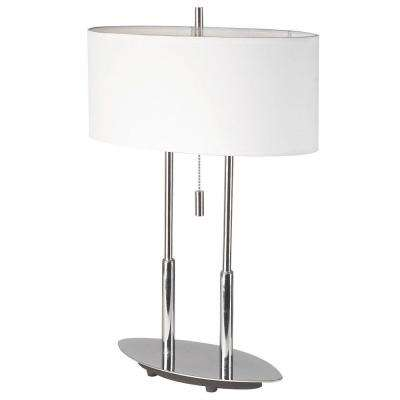 Catherine 2 Light 20 in. Polished Chrome Table Lamp