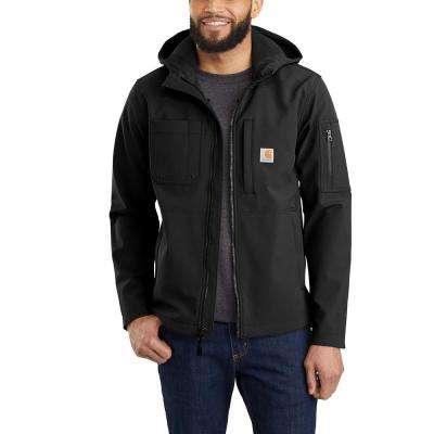 Men's Nylon/Spandex/Polyester Hooded Rough Cut Jacket