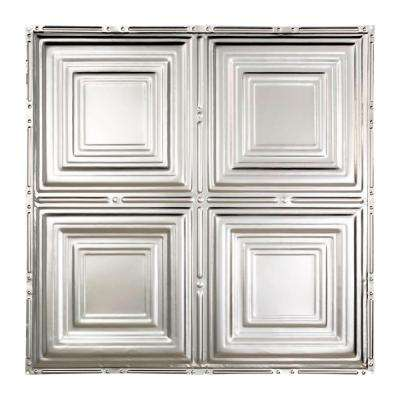 Syracuse 2 ft. x 2 ft. Nail-up Tin Ceiling Tile in Clear