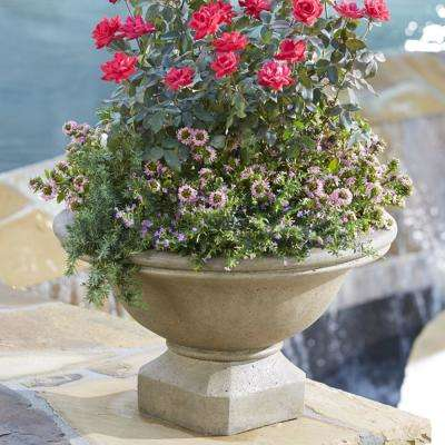 24 in. Dia in Granite Stone Wide Urn